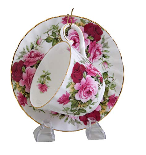 Summertime Rose Tea Cup & Saucer - English Bone China