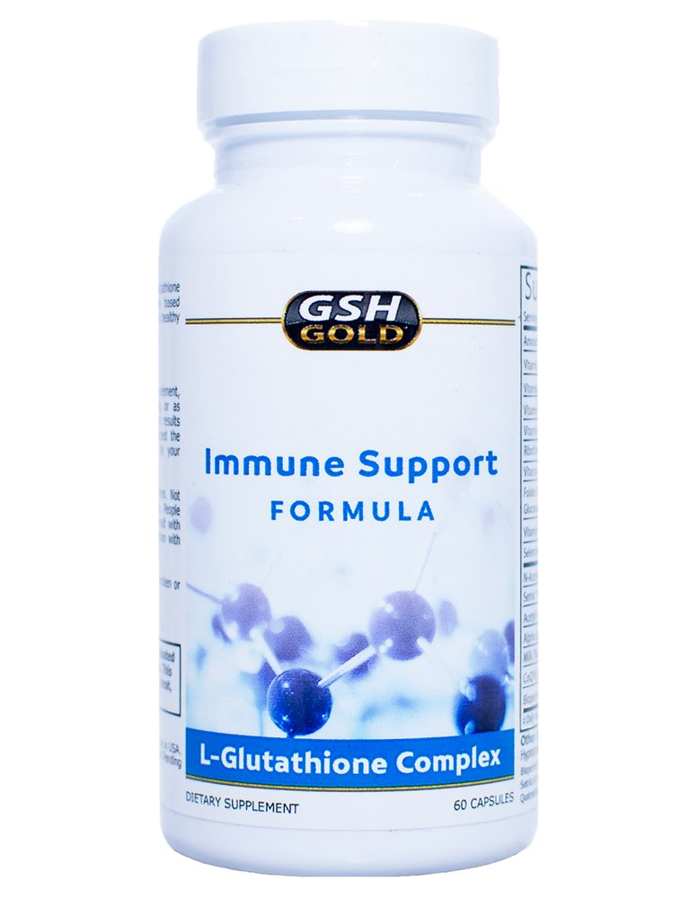 GSH Gold - Reduced Glutathione Complex - Made in USA - Formulated for Optimal Absorption - Immune Support Formula by GSH Gold