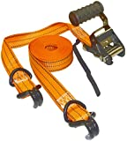 "Keeper 05544 Pro Grade Extreme 16' x 1-1/2"" Ratchet Tie-Down with Double J-Hooks"