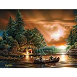 LANG - Large Guest Book - ''Evening Rendezvous'' - Art by Terry Redlin - Perfect Bound - 40 Pages - 9.25'' x 6.875''