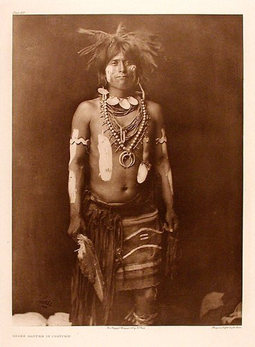 Edward Curtis Snake Dancer In Costumes (Snake Dancer in Costume)