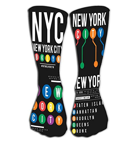 YILINGER Print Knee High Socks Athletic Over The Calf Tube 19.7