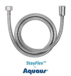 48-inch High-Pressure StayFlex Stainless Steel Bidet Spray Hose by Aquaus By RinseWorks 48-inch (4 foot) Designed to be Pressurized
