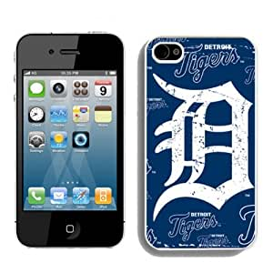 Detroit Tigers iPhone 4 4s Case Hard Silicone Case