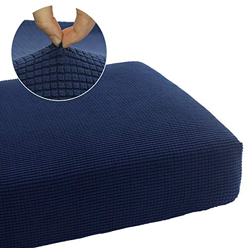 NICEEC Soft Couch Cushion Covers for 2 Seater Cushion Sofa Stretch Replacement Furniture Protector Seat Cushion Slipcover Durable Removable (1Piece,Loveseat Cushion,Navy Blue) (Sofa Slipcovers Flexsteel)