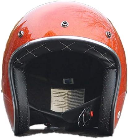 55-62cm SXC Moto Casque de Casque Moto Jet Scooter Touring Casque Retro Chopper Bobber ECE//Dot certifi/é