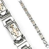 Coffee IP Gold Tribal Cross Link Stainless Bracelet K121