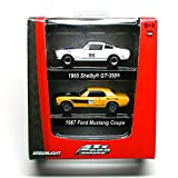 1965 SHELBY GT-350 & 1967 FORD MUSTANG COUPE * ROAD RACERS * Limited Edition 2009 Greenlight Collectibles Factory 2-Pack Die-Cast Vehicles