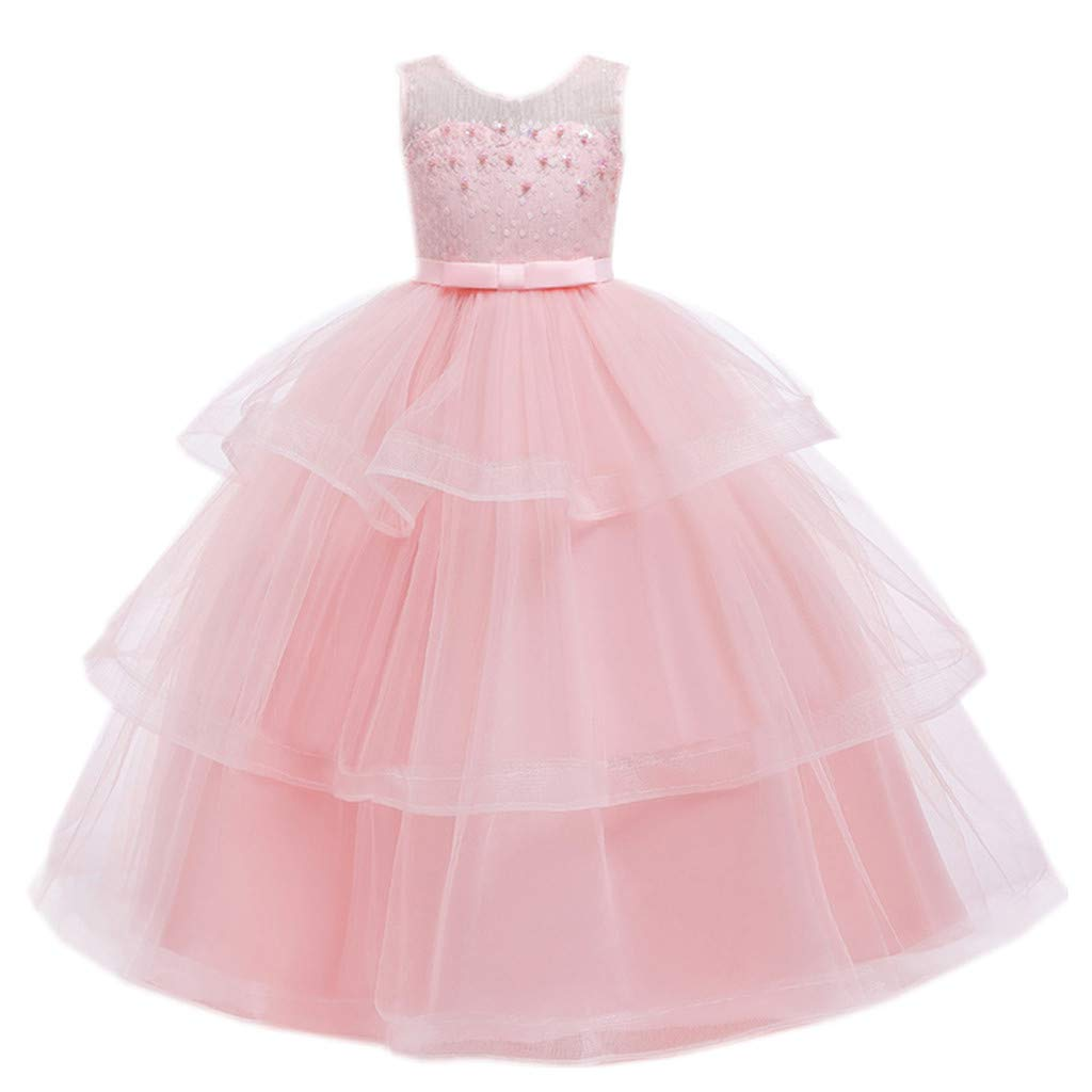 Lavany Little Girls Tulle Ball Gown Dresses Ruffles Flowers Party Dress for 0-4 Years by Lavany Girls Dress