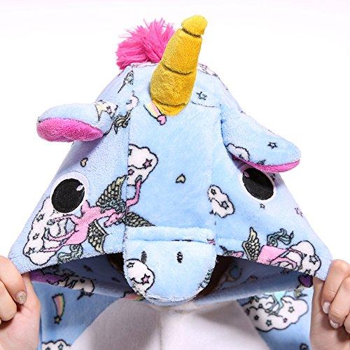 notte e Costumi travestimenti Cosplay Attrezzatura Costume Pigiama Adulti camicie Sport VineCrown Pigiami Anime Halloween Blue Unicorno Animale da Monopezzi vqwZOnX5x