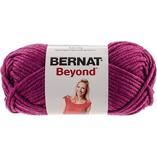 Bernat Beyond Acrylic Nylon Yarn, Magenta Purple