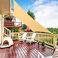 RATEL Toldo Vela de Sombra Triángulo Arena 2 × 3 m, protección 95% UV y Transpirable Impermeable, para Jardín, Patio…