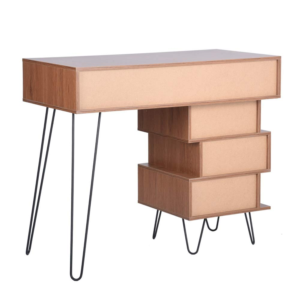 Aingoo Writing Desk, Modern Computer Desk with Bookshelf Efficient Space Storage Workstation by Lingoes (Image #6)