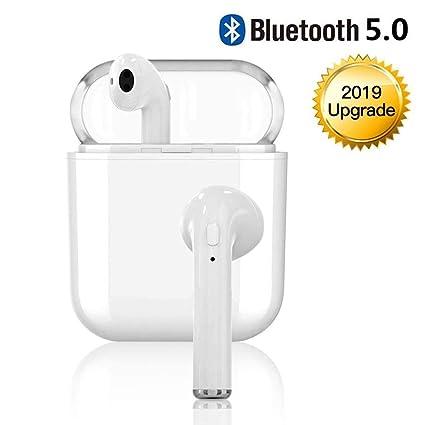 Bluetooth Kopfh/örer V5.0,kopfh/örer kabellos in Ear Headset Stereo-Minikopfh/örer Sport Wasserdicht mit Ladek/ästchen und Integriertem Mikrofon f/ür Apple//Android//iPhone XR X 8 8p 7 7P