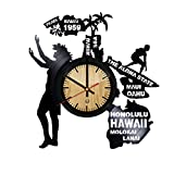 Hawaii Record Wall Clock - Get unique of living room wall decor - Gift ideas for girls and boys – The Aloha State Unique Art Design