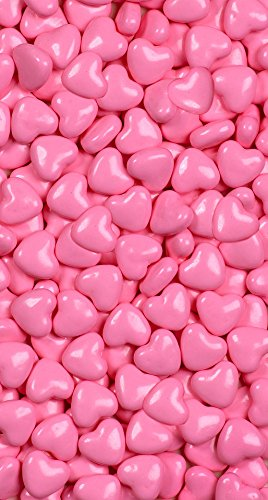 Light Pink Hearts Sweet Shapes 1 LB Bag