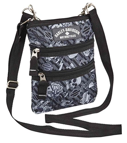 Harley Davidson (Cross X-Body Slings Grey Tattoo Backpack, One Size