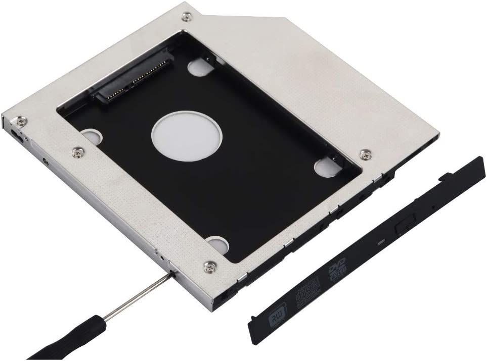 Deyoung 2nd SATA HDD SSD Hard Drive Caddy Adapter for HP Pavilion dm4 Series dm4-1160us dm4-1065dx