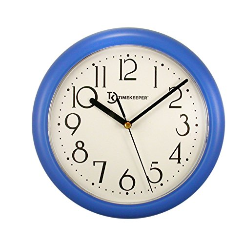Timekeeper Round Chester Resin Case Clock with White Dial, 9