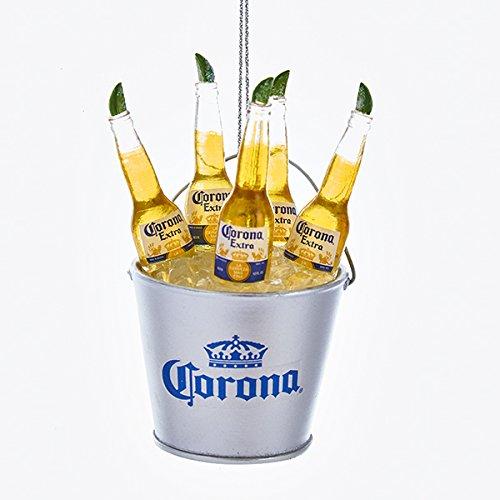 - Kurt Adler Corona Bottles in Ice Bucket Christmas Ornament