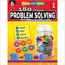 amazon com 180 days of problem solving for 1st grade build math