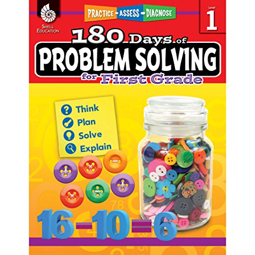 180 Days of Problem Solving for 1st Grade – Build Math Fluency with this 1st Grade Math Workbook (180 Days of Practice)