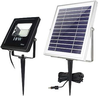 Starnearby Lámpara solar de jardín, lámpara LED solar para el jardín y exteriores, iluminación solar para caminos, resistente al agua para jardín: Amazon.es: Iluminación