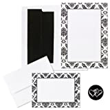 Hortense B. Hewitt Wedding Accessories Print Yourself Invitation Kit, Damask Border, Pack of 50