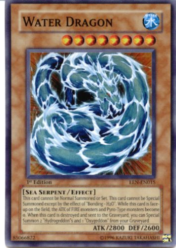 Yu-Gi-Oh Gx Elemental Energy Foil Card Water Dragon Super Rare Card EEN-EN015