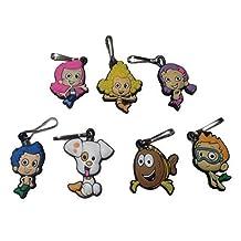 Bubble Guppies Snap Hook Zipper Pulls 7 Pcs Set #1