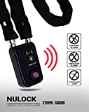 Nulock Keyless Bluetooth Bike/Motorcycle/Gate Alarmed Smart Lock IP44 Splash-proof Cycling Lock with 110db Alarm, 0.38