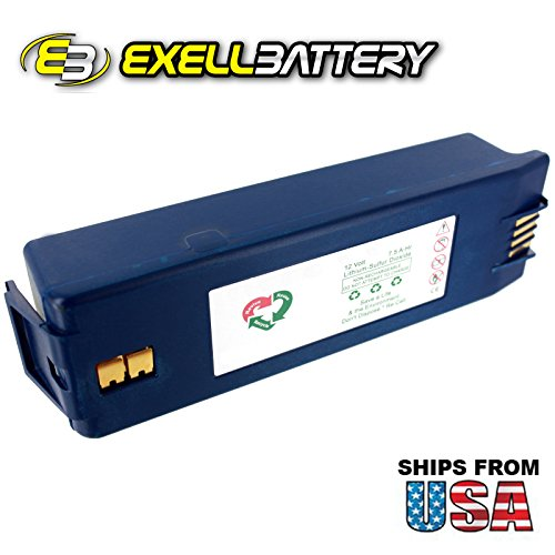 - Exell 12V 7.5 A-Hr AED Replacement Battery For Save Survivalink & Powerheart AED