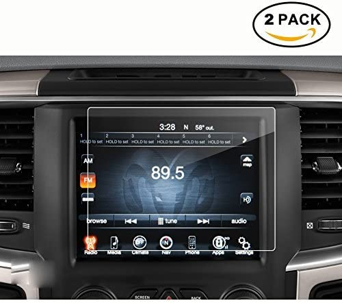 8.4 Inch X2 2013-2018 Dodge Ram 1500 2500 3500 Uconnect Touch Screen Car Display Navigation Screen Protector RUIYA HD Clear Tempered Glass Car in-Dash Screen Protective Film