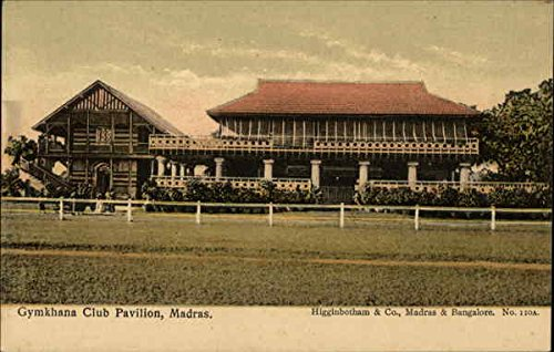 Gymkhana Club Pavilion Madras, India Original Vintage Postcard