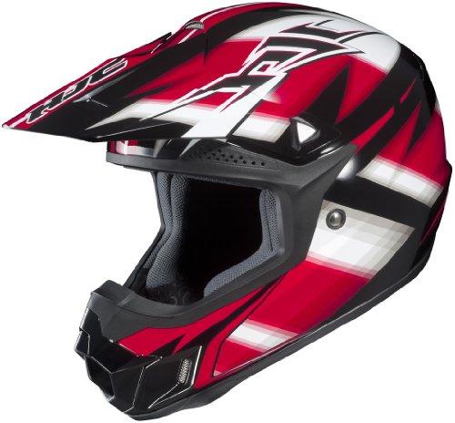 HJC CL-X6 Spectrum Off-Road Helmet (Black/Red/White, Large)