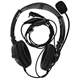 Tenq 2 Pin Overhead Earpiece Headset Boom Mic Noise Cancelling for Kenwood Radio Tk3173/tk3200/tk3202/tk3207/tk3230 Etc 2pin