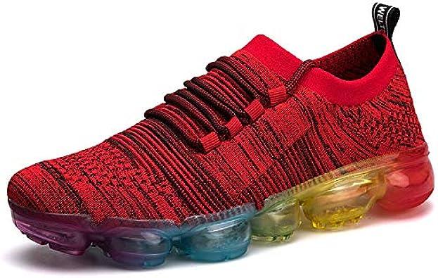 YZWD Zapatillas Padel Hombres Gimnasio Running Zapatos Zapatillas Con Amortiguación De Aire Zapatillas Deportivas Antideslizantes Para Deportes Con Amortiguación Para Hombres Tejidas Con Mosca 8 S: Amazon.es: Zapatos y complementos
