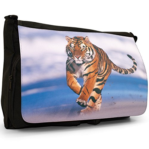 Messenger Beach Shoulder School The Running Bag Tiger Canvas Large Wild Laptop On Black E7fwqnC