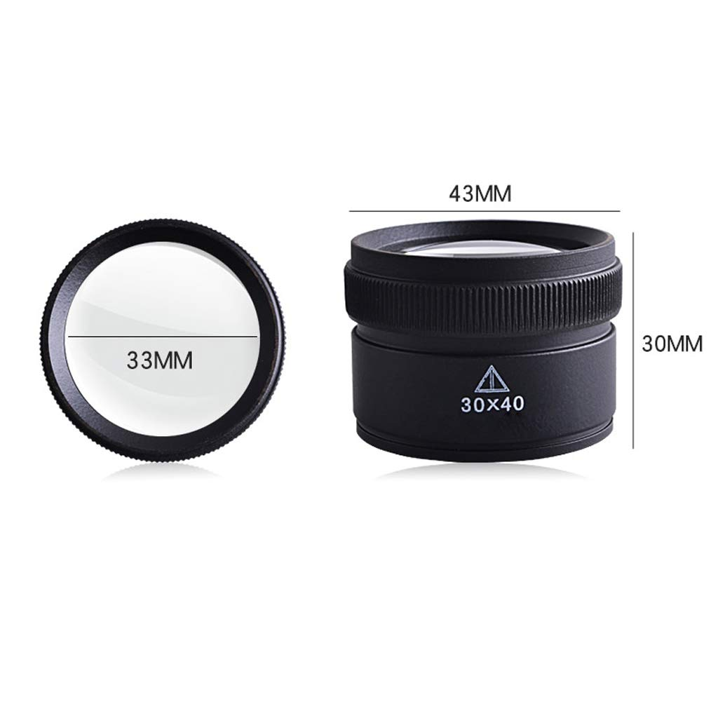 Lupa Lupa HD Lupa de identificación de Mantenimiento Mantenimiento de Lupa de Lentes ópticas Mini Lupa de Mano 15cd08