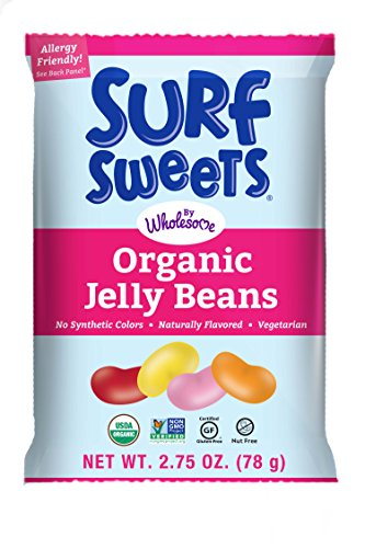 (Surf Sweets Organic Jelly Beans, Nut Free, Gluten Free, Dairy Free,  2.75 oz. (Pack of 12))