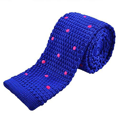 royal rosa blu in Man caldo Alizeal maglia Puntini Slim Tie con HqOx0w
