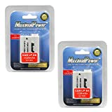 MaximalPower Battery 2-Pack for Canon LP-E8 Batteries. Fits EOS Rebel T5i T4i T3i T2i & 700D 650D 600D 550D