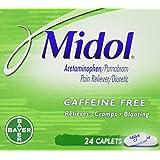 Midol Caffeine Free Caplets, 24 Count