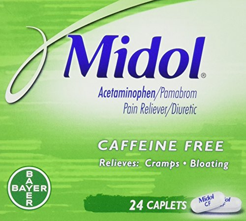 Midol Caffeine Free Caplets  24 Count