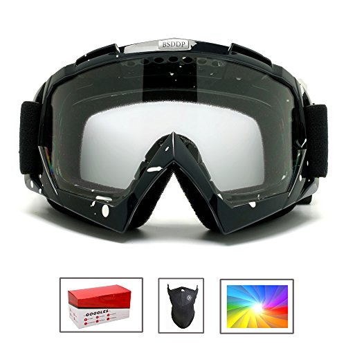 Feier Yusi Ski Snowboard Motorcycle Goggles for Men Women Youth,Outdoor Tactical Glasses with Colorful-Lens UV 400 Protection Anti Fog & Dust, Fit for Skiing Motorcycling - with Box & - Vector Sunglasses