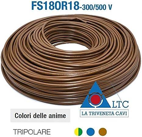RING 5m trefolo in rame 3 x 0,14mm² cavo isolato ROCO Rosso//Verde//Nero 860298