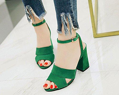 EU 5 Femme Mules Green Vert HiTime 36 x8YnXq4nw