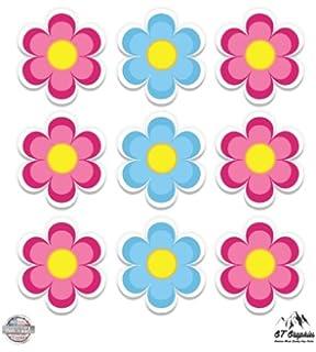 Amazon Cute Pink Flower Vinyl Sticker Waterproof Decal