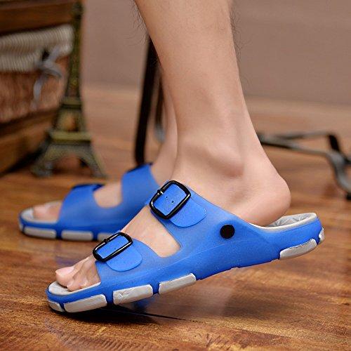 pantofole antiscivolo personalità e all'interno da cool Uomini 42 fuori blu bagno gli fankou maschio stanza uomini una scarpe estate spiaggia marea scarpe al da per di della sia sandali di YnBw8aS