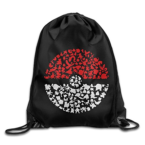 LOKIKA Pocket Monster Pokemon Sackpack Team Training Gymsack